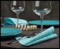 Preview: Serviette Aqua & White Nr 3